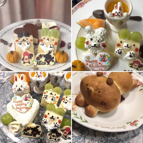かわいいケーキでお誕生日、結婚記念日、アフタヌーンティーをお楽しみくださいね。お子さま用のリラックマパンも新登場です。
