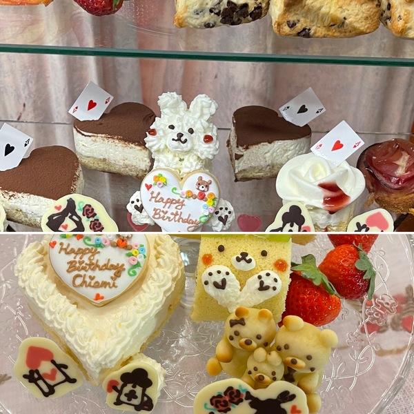 昨日もアフタヌーン&お誕生日会で、かわいいケーキでお祝い。マッシュポテトのくまちゃんが愛くるしいよ。