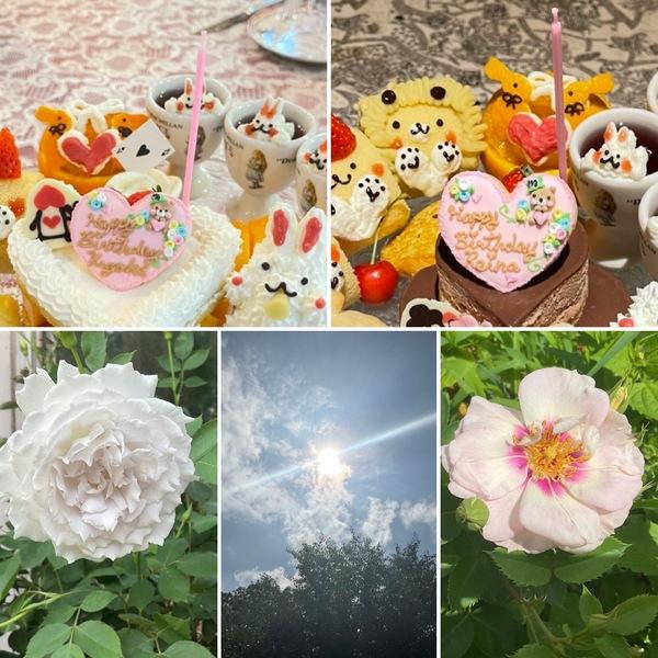 かわいいケーキが大活躍の不思議のお誕生日会🎊バラ香る花園でお楽しみくださいね。
