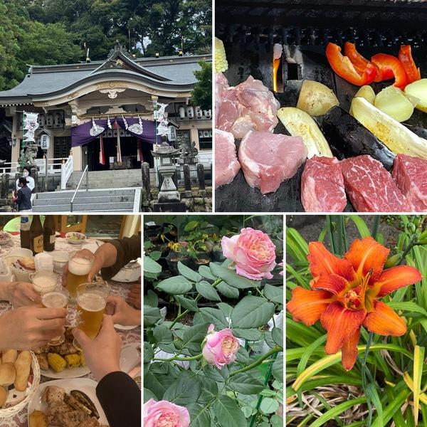 今日は7月1日公智神社の月次祭へ⛩身体がスッキリする瞑想体験とBBQ🥩今日も不思議の国の花園に迷い込んでくださいね。