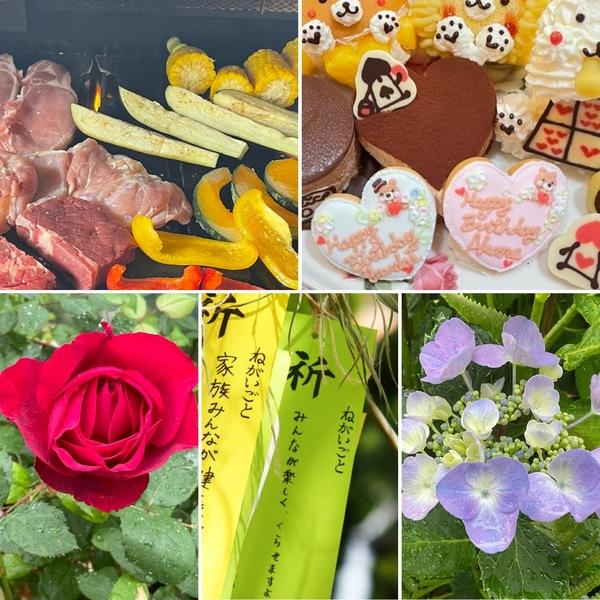 不思議の国のBBQ🥩&お誕生日会🎂今日は七夕🎋雨でも元気よく咲く不思議の国の花園に迷い込んでくださいね。🥰