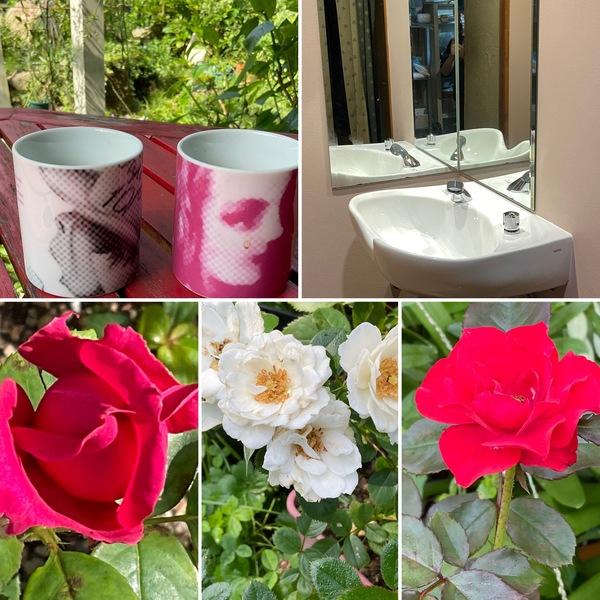 10月26日オープン予定のヘナサロンの洗髪室完成❣️🎉今日も色んな花咲く不思議の国の花園に迷い込んでくださいね。