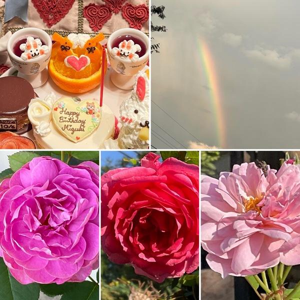 今日は秋分の日🎌アリスのランチタイムは満席です。🙇♂️昨日は夕立⛈&虹🌈不思議のお誕生日はいかが❓